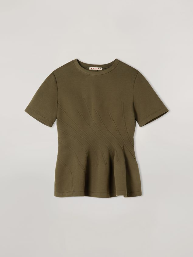 Marni T-shirt in double face jersey with wavy seamwork Woman - 2