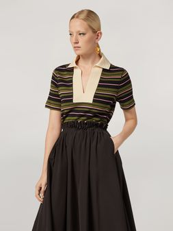 Marni T-shirt in ribbed striped yarn-dyed jersey Woman