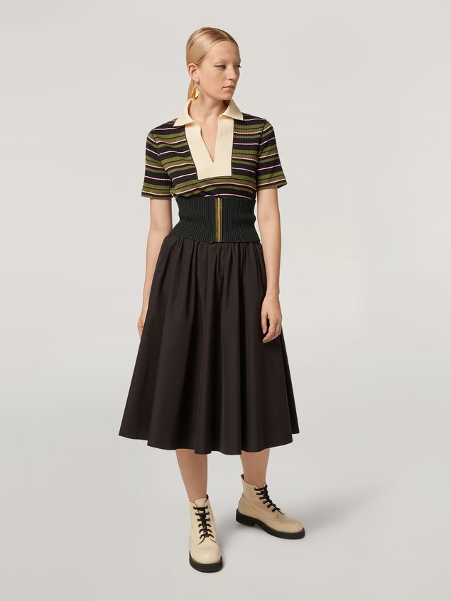 Marni T-shirt in ribbed striped yarn-dyed jersey Woman - 5