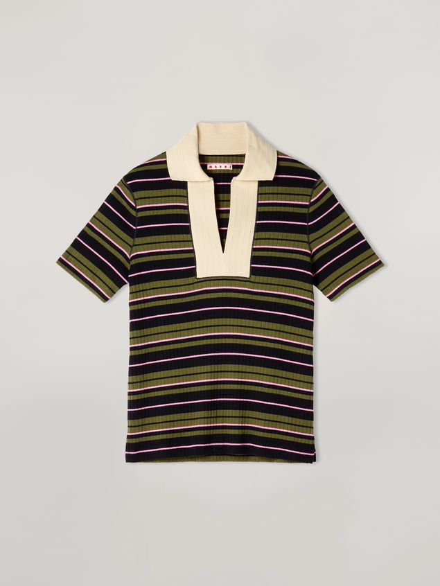 Marni T-shirt in ribbed striped yarn-dyed jersey Woman - 2