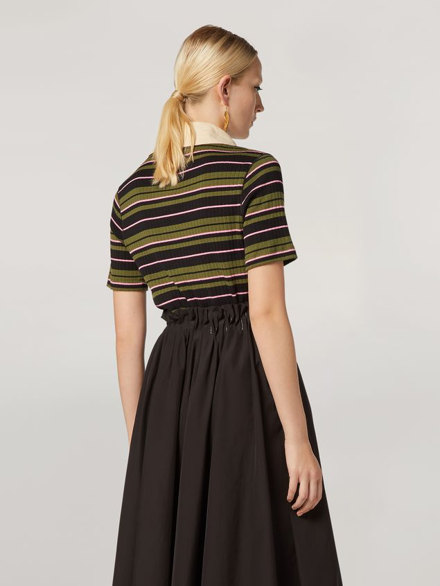 Marni T-shirt in ribbed striped yarn-dyed jersey Woman - 3