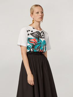 Marni Crewneck T-shirt in cotton jersey Jungle Liz print Woman