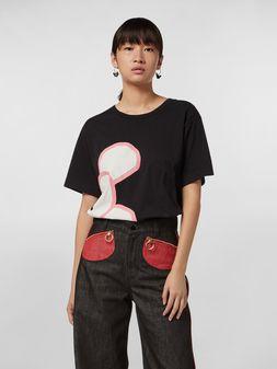 Marni CHINESE NEW YEAR 2020 crewneck T-shirt in black cotton jersey Woman