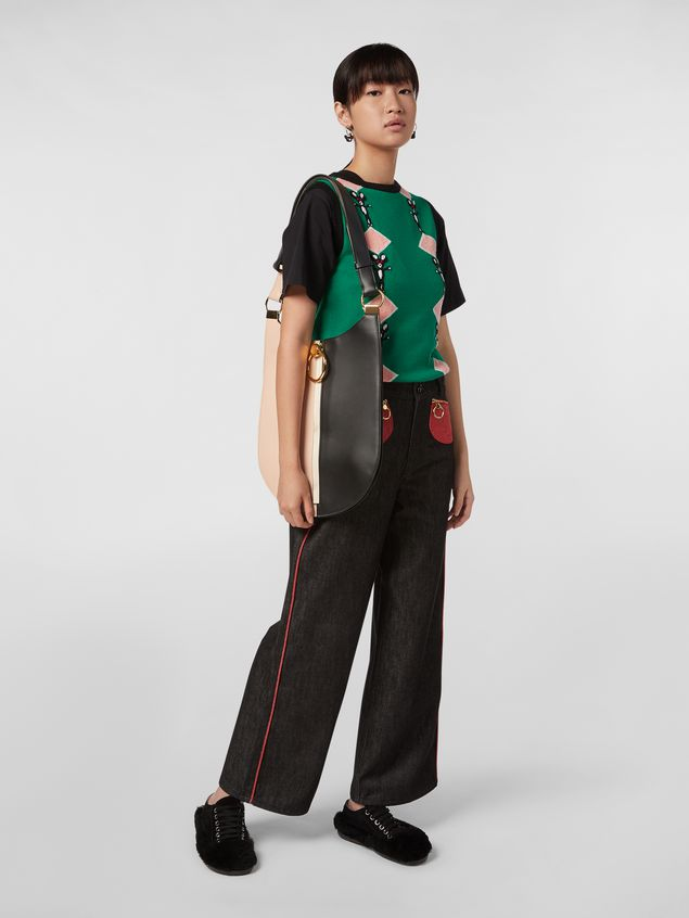 Marni CHINESE NEW YEAR 2020 crewneck T-shirt in black cotton jersey Woman - 5