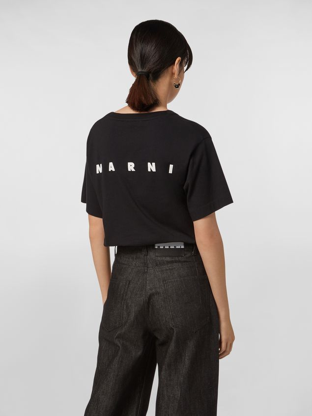 Marni CHINESE NEW YEAR 2020 crewneck T-shirt in black cotton jersey Woman - 3