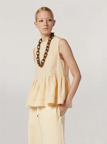 Marni Flounced top in raw viscose ramié Woman f