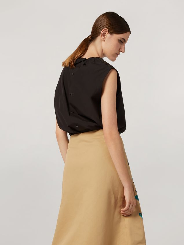 Marni Tunic in cotton poplin with back buttoning Woman - 3