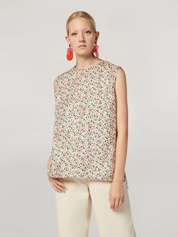 Marni Tunic in silk twill Liz with back buttoning Woman