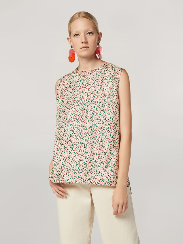 Marni Tunic in silk twill Liz with back buttoning Woman - 1