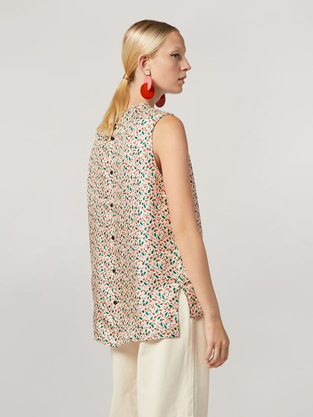 Marni Tunic in silk twill Liz with back buttoning Woman - 3