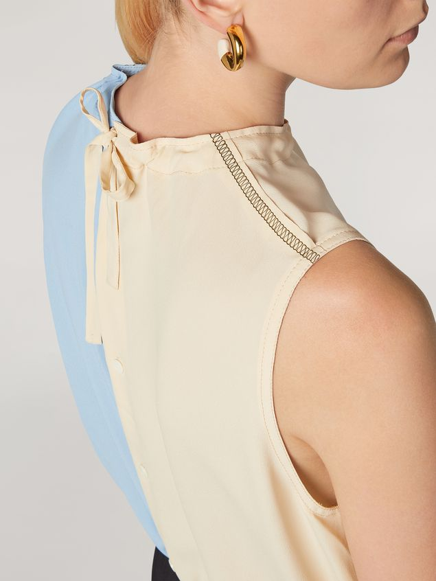 Marni Tunic in lightweight washed crepe with back buttoning Woman - 4