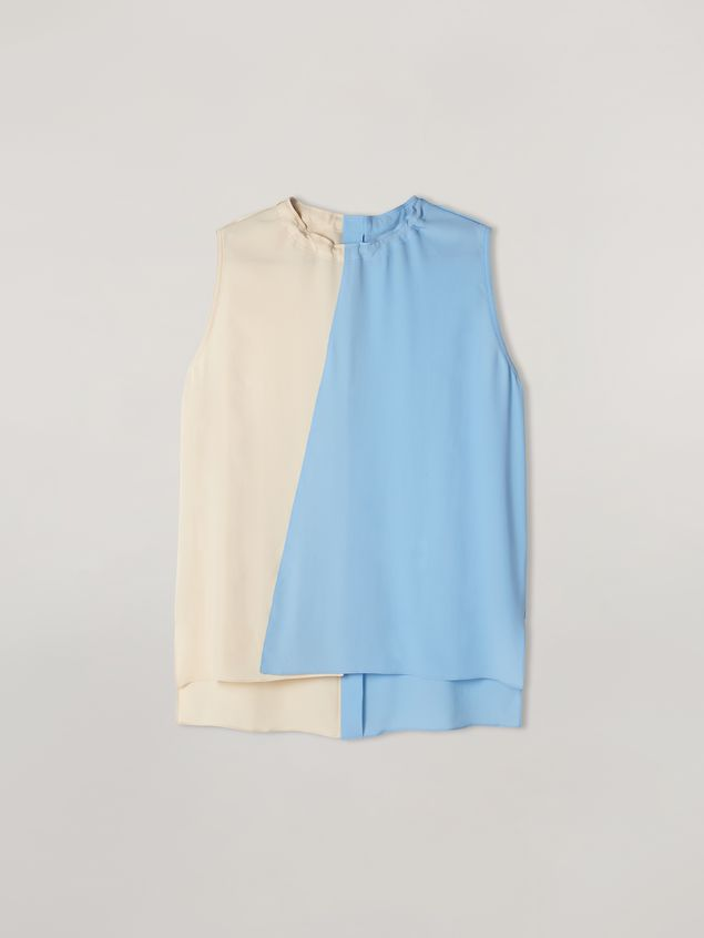 Marni Tunic in lightweight washed crepe with back buttoning Woman - 2