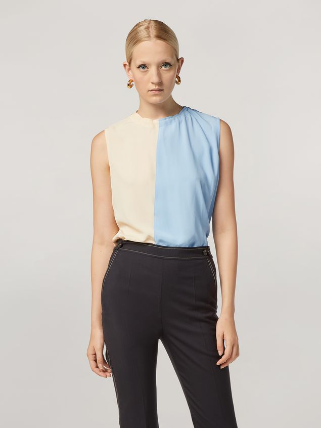 Marni Tunic in lightweight washed crepe with back buttoning Woman - 1