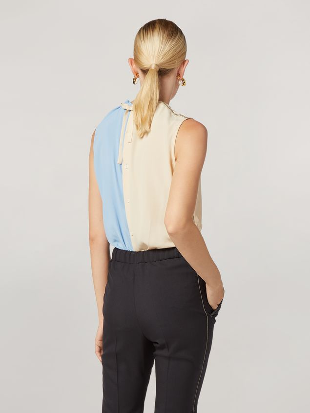 Marni Tunic in lightweight washed crepe with back buttoning Woman - 3