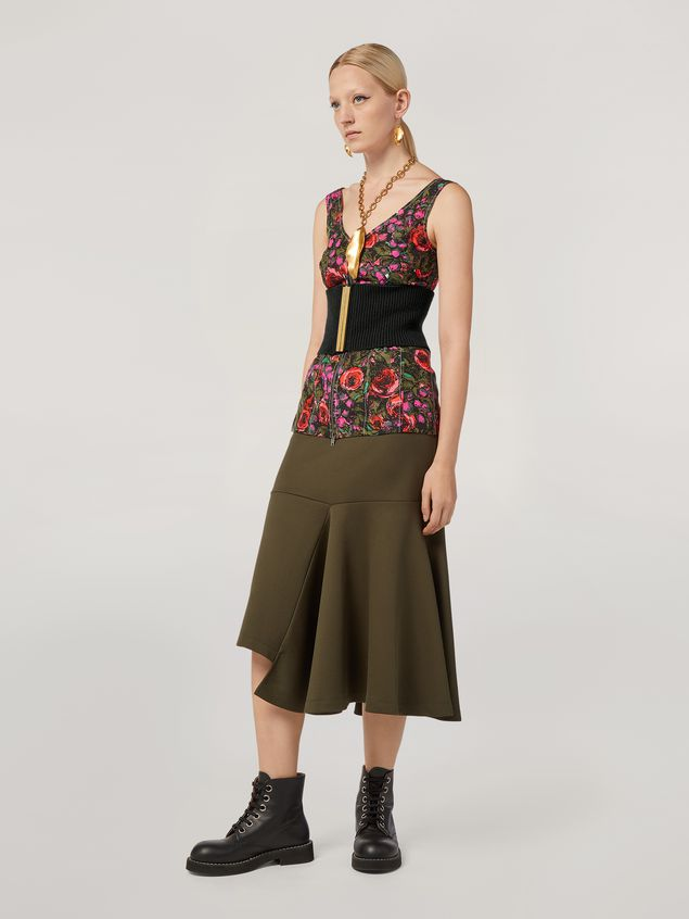 Marni Top in faille Amarcord print with contrasting topstitching Woman - 5