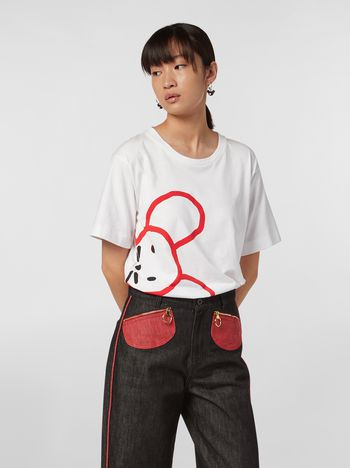 Marni CHINESE NEW YEAR 2020 crewneck T-shirt in white cotton jersey Woman f