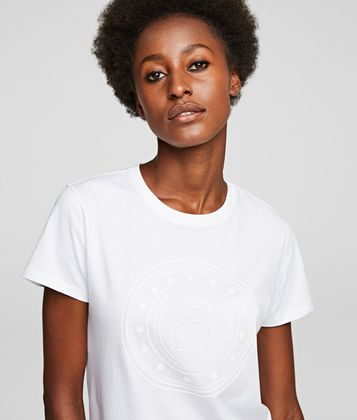 KARL LAGERFELD KARL'S TREASURE KAMEO COIN T-SHIRT