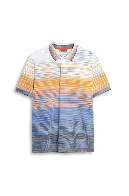 MISSONI Men's polo Blue Man - Back
