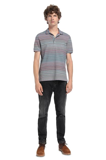 MISSONI Men's polo Lilac Man - Front