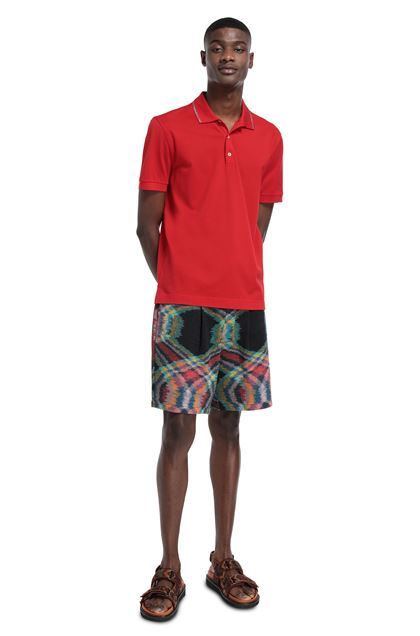 MISSONI Men's polo Red Man - Front