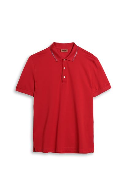 MISSONI Men's polo Red Man - Back