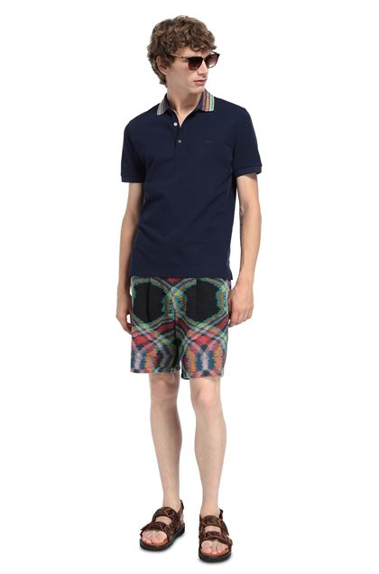 MISSONI Men's polo Dark blue Man - Front