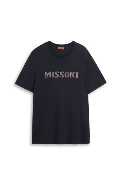MISSONI Men's T-Shirts Dark blue Man - Back