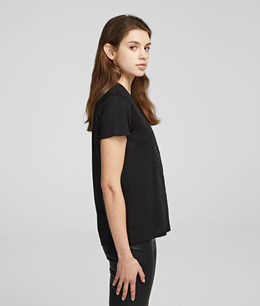 KARL LAGERFELD Karl Bouclé T-shirt T-shirt Woman d