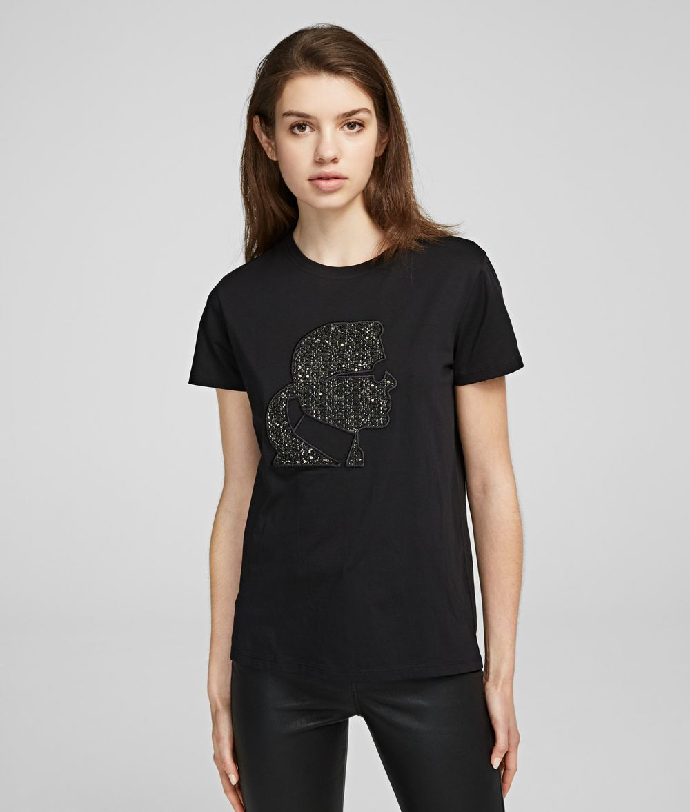 KARL LAGERFELD Karl Bouclé T-shirt T-shirt Woman f