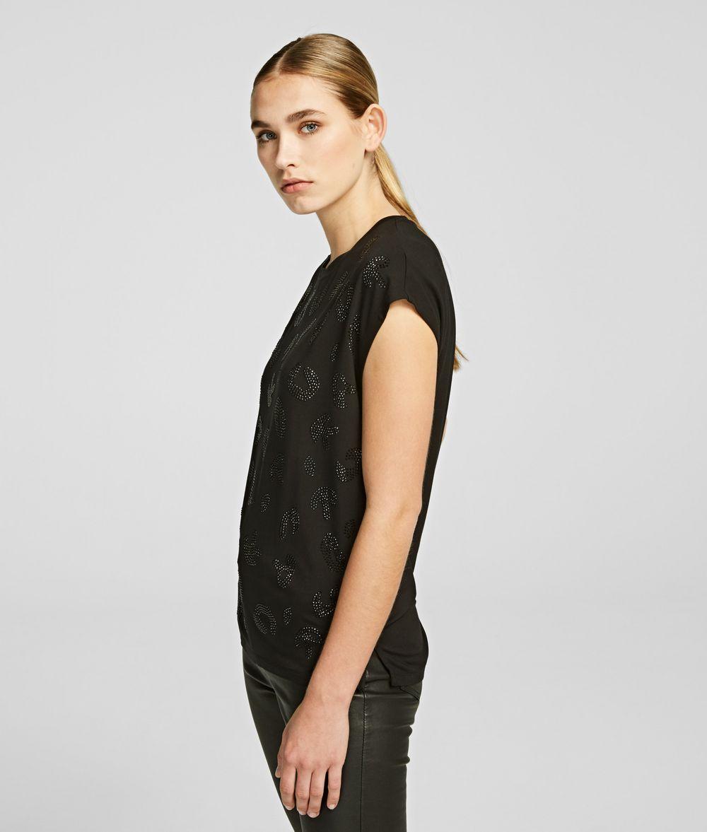 KARL LAGERFELD Sparkly Logo T-shirt T-shirt Woman d
