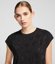 KARL LAGERFELD Sparkly Logo T-shirt 9_f