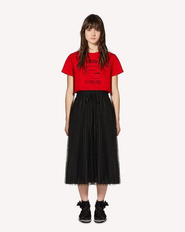"REDValentino T-shirt stampa  ""Girls bite back"""