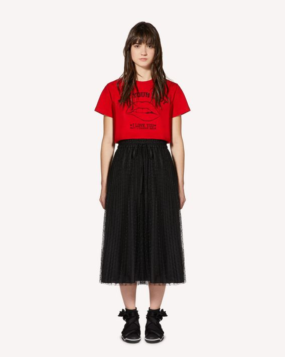 "REDValentino ""Girls bite back""印纹 T 恤"
