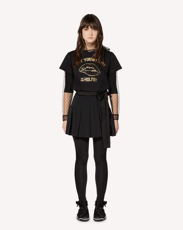 "REDValentino ""Girls bite back"" laminated printed T-shirt"