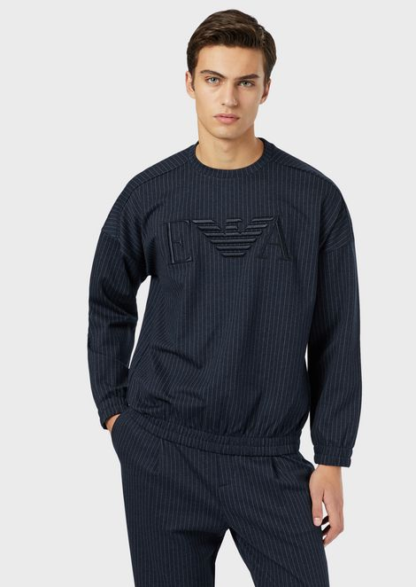 Viscose jersey sweatshirt with front logo
