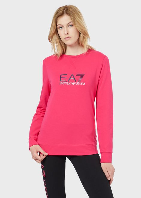 Crew-neck sweatshirt with logo print