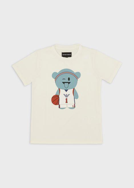 Camiseta Manga Bear deportiva de punto elástico