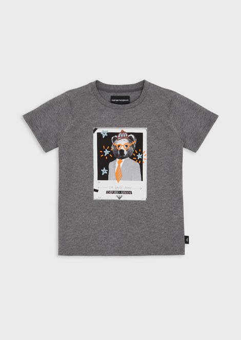 Jersey T-shirt with polaroid print