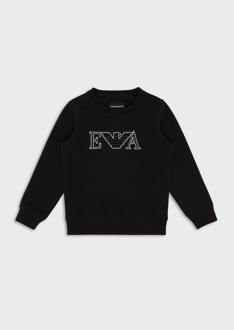 Sweatshirt with logo embroidery