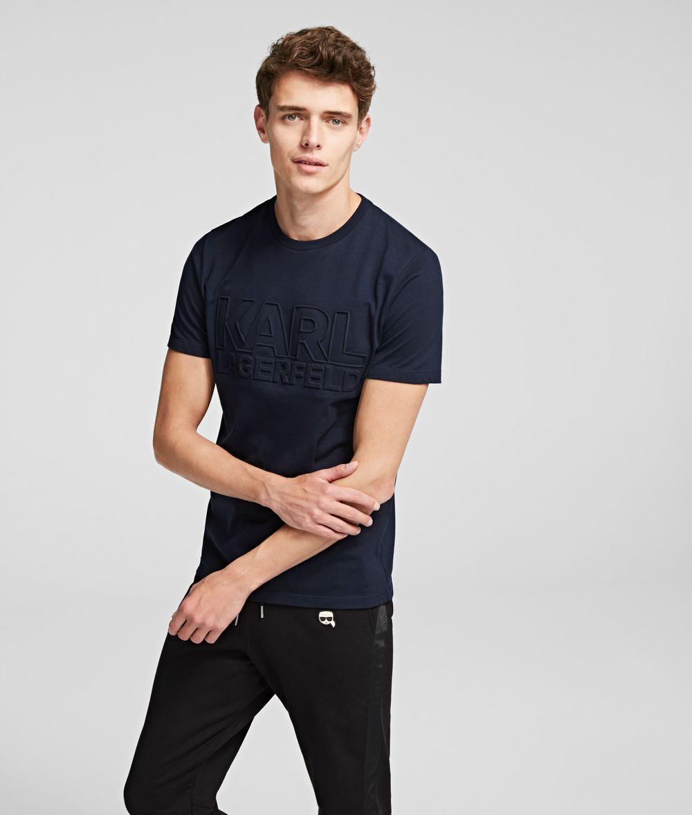 KARL LAGERFELD BLOCK LOGO T-SHIRT T-shirt Man f