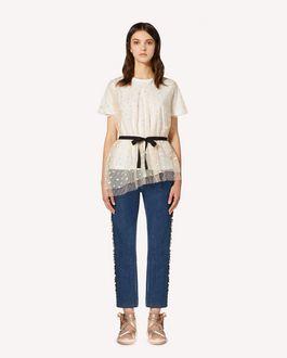 REDValentino  限定カプセルコレクション  Tシャツ ハートグリッターチュール付き