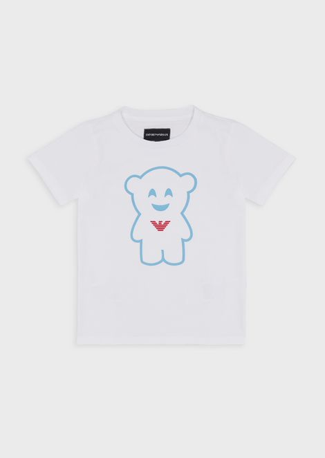 Manga Bear T-shirt in stretch jersey
