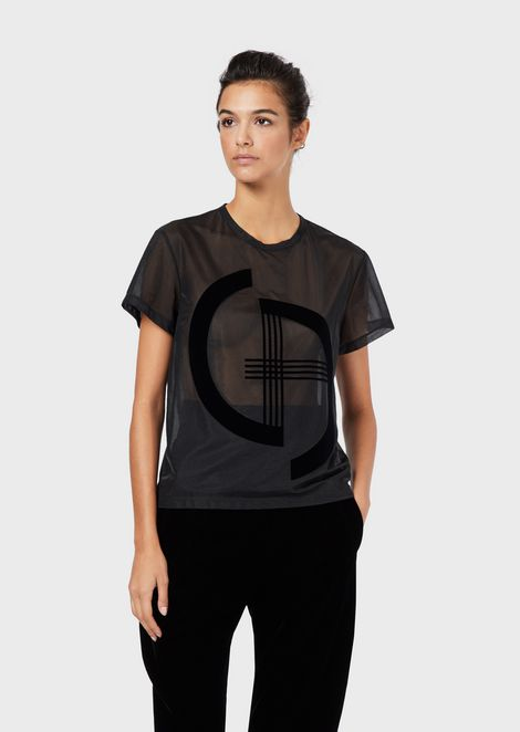 Jersey T-shirt with embroidered logo