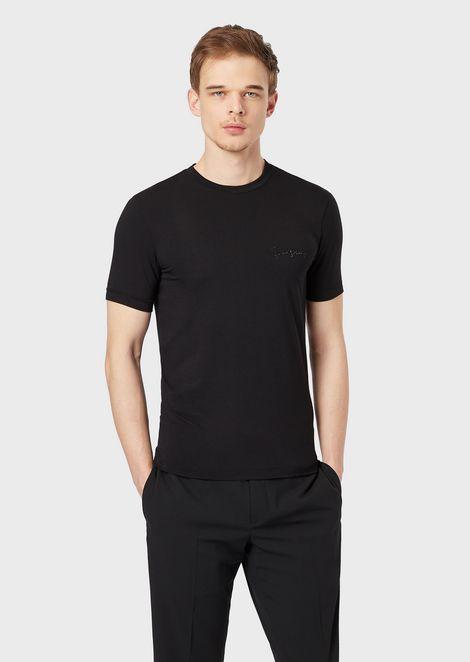 Giorgio's T-shirt with rhinestone decoration