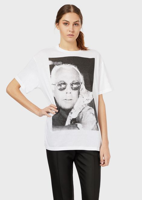 Cotton-jersey T-shirt with photographic print