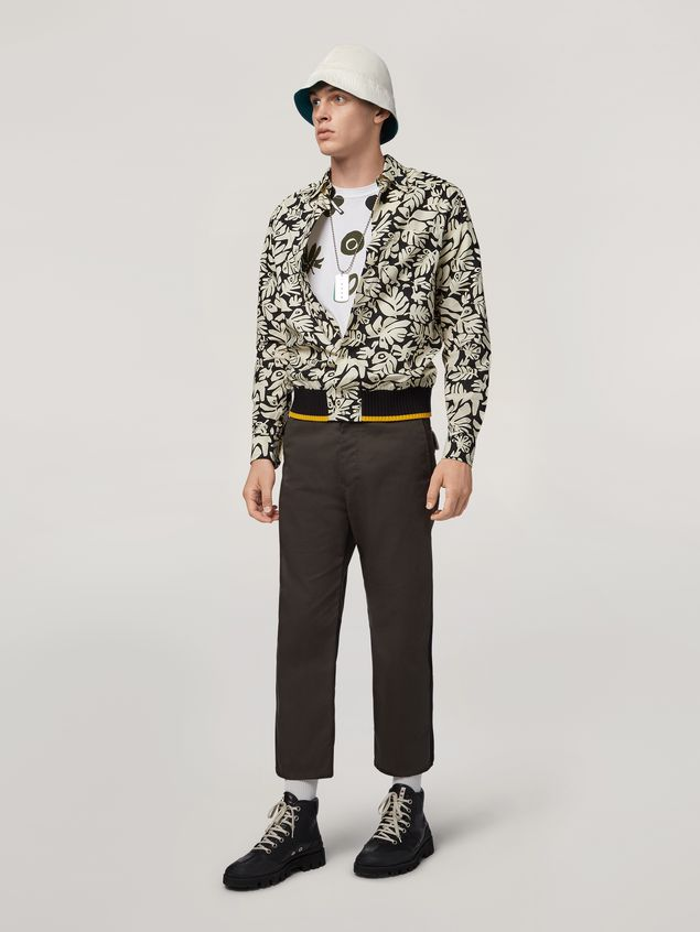 Marni T-shirt in cotton jersey with placed print Man - 5
