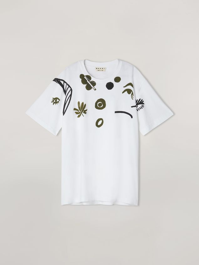 Marni T-shirt in cotton jersey with placed print Man - 2