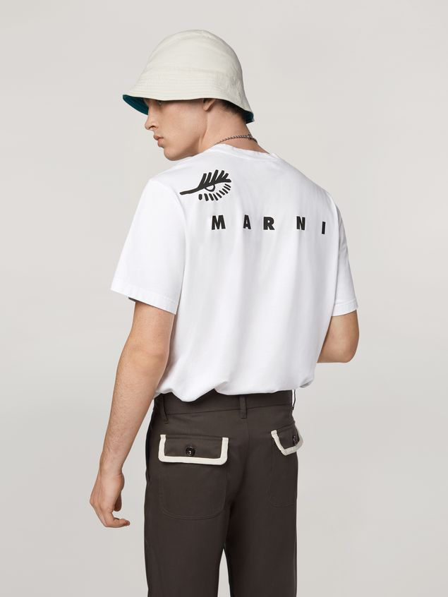 Marni T-shirt in cotton jersey with placed print Man - 3