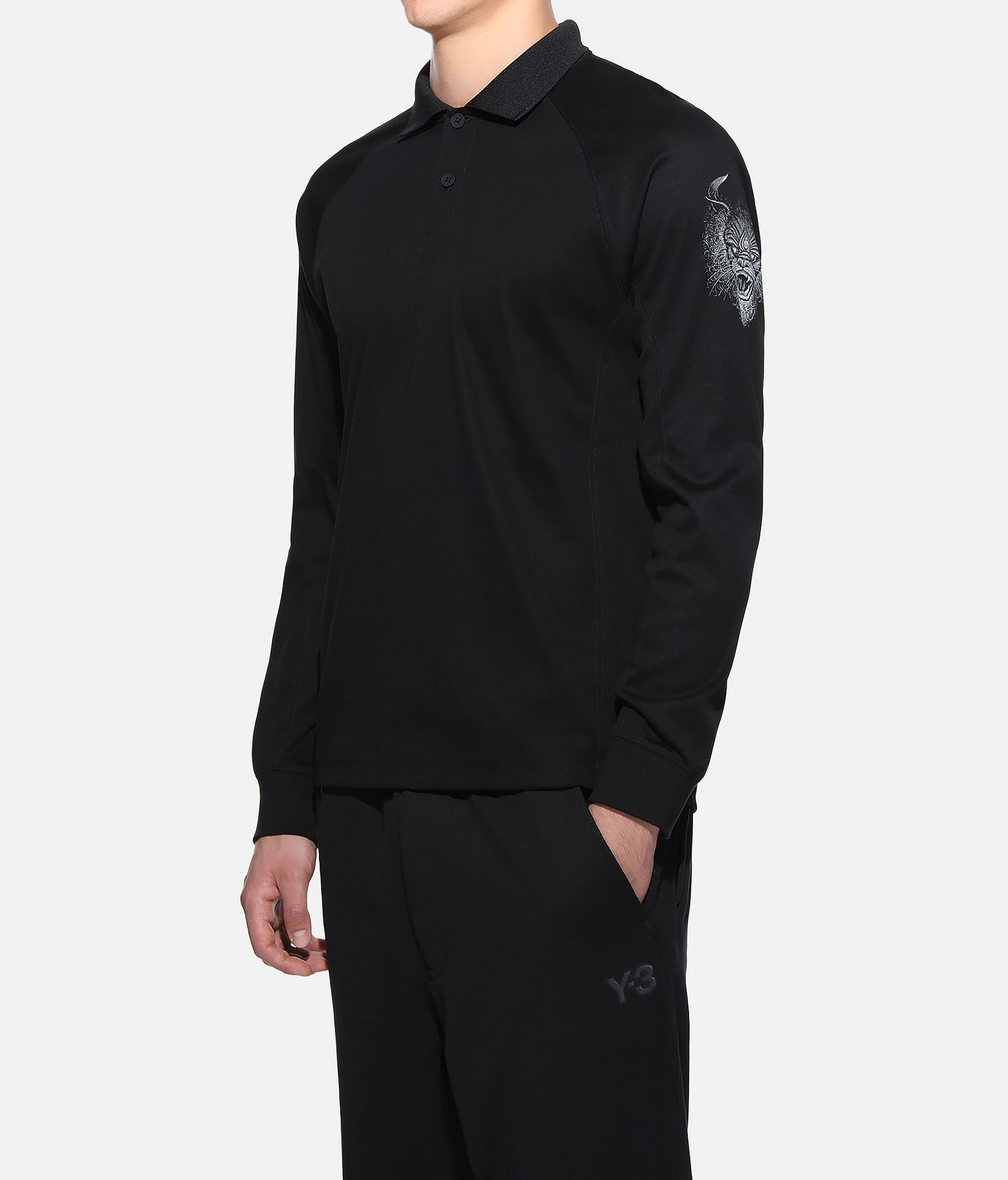 Y-3 Y-3 Long Sleeve Polo Shirt Polo Man e
