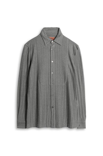 MISSONI Men's shirts Grey Man - Back